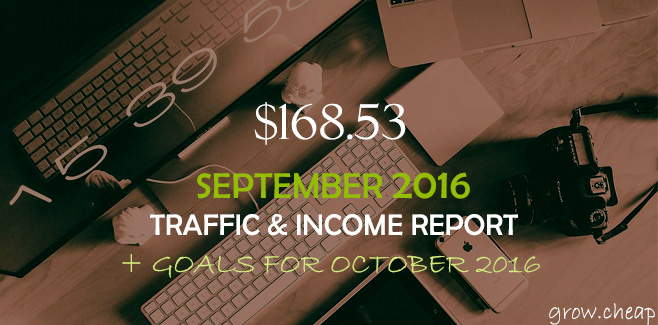 $168.53: GrowCheap September 2016 Income Report #Income #September2016 #Report