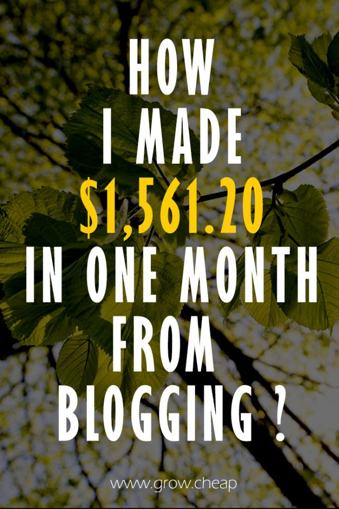 $1,561.20: GrowCheap December 2016 Income Report #Blogging #Income #Content
