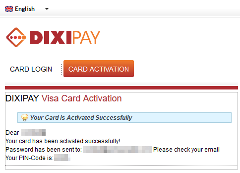 Dixipay-Activation-card