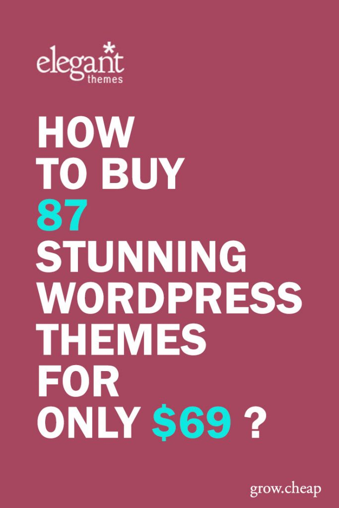 Elegant Themes Review: 87 WordPress Themes for Only $69