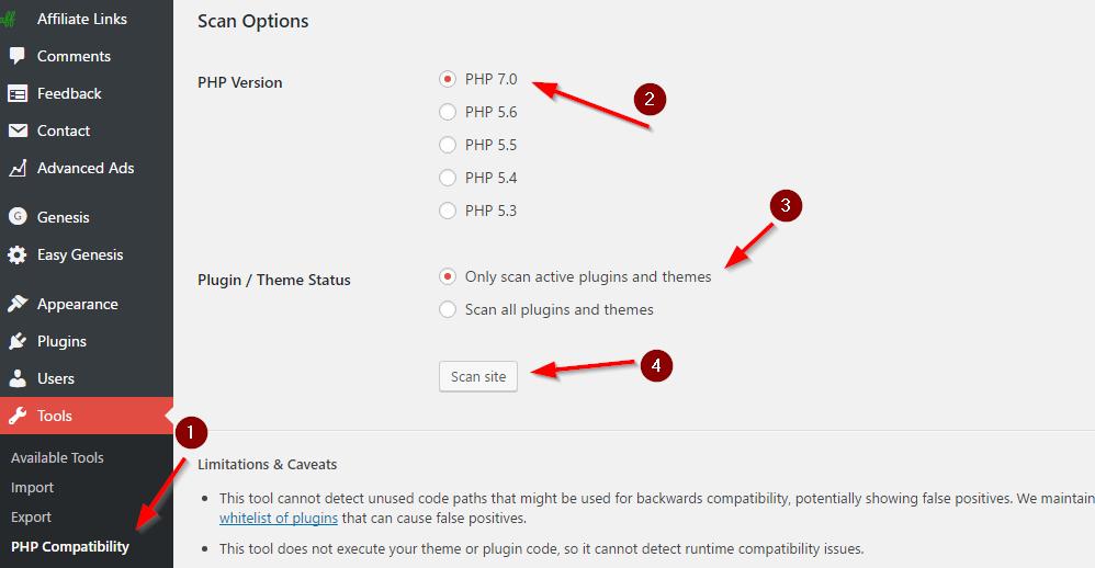 PHP Compatibility Checker WordPress Plugin