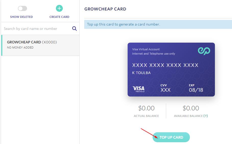 Free Prepaid Credit Card in Egypt