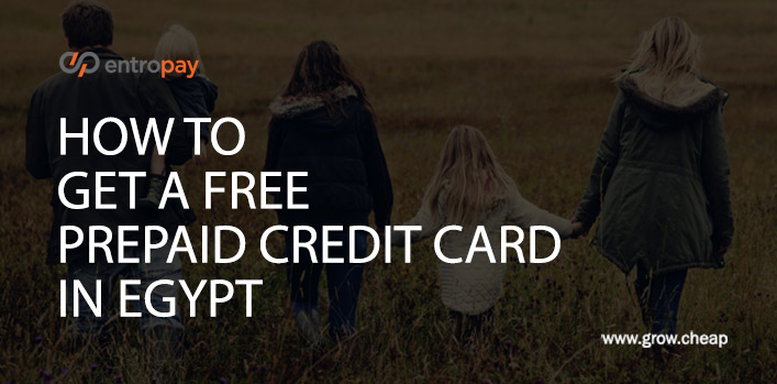 EntroPay Egypt: Get A Free Prepaid Credit Card