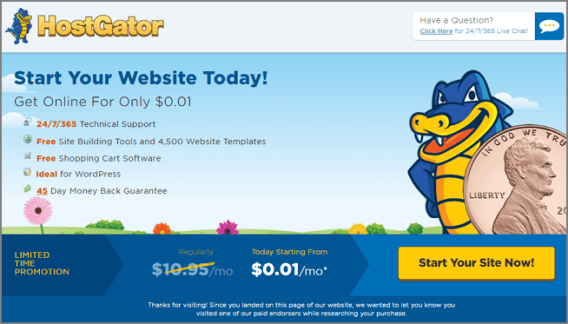 HostGator Free Trial