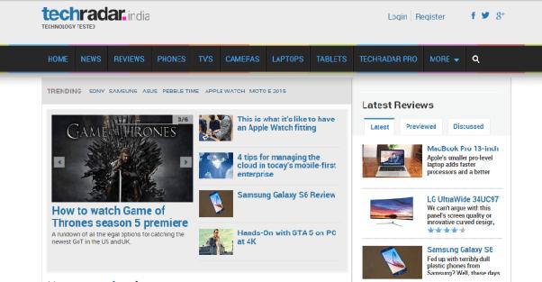 techradar-best tech websites