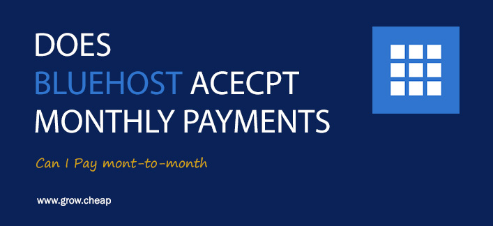 BlueHost Monthly Payments: Can I Pay Month To Month #BlueHost #Hosting #Monthly #Billing