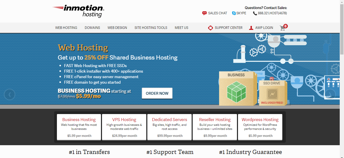 InMotionHosting - Best Monthly Billing WordPress Hosting