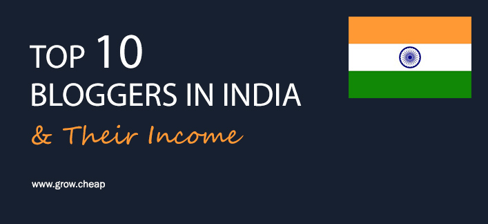 Top 10 Bloggers in India To Read From (+ Bloggers Income)