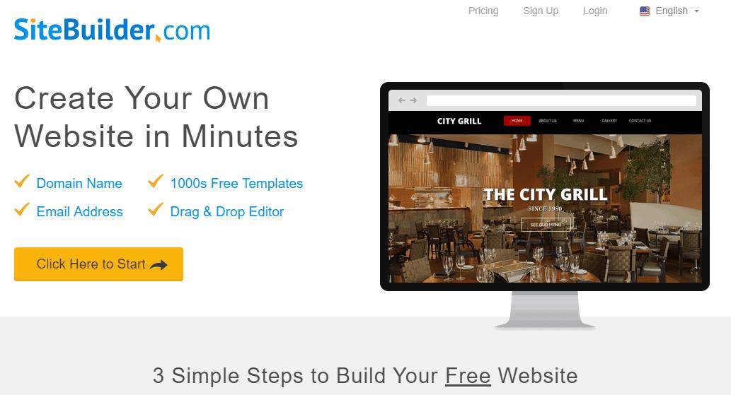 SiteBuilder.com Plans & Pricing