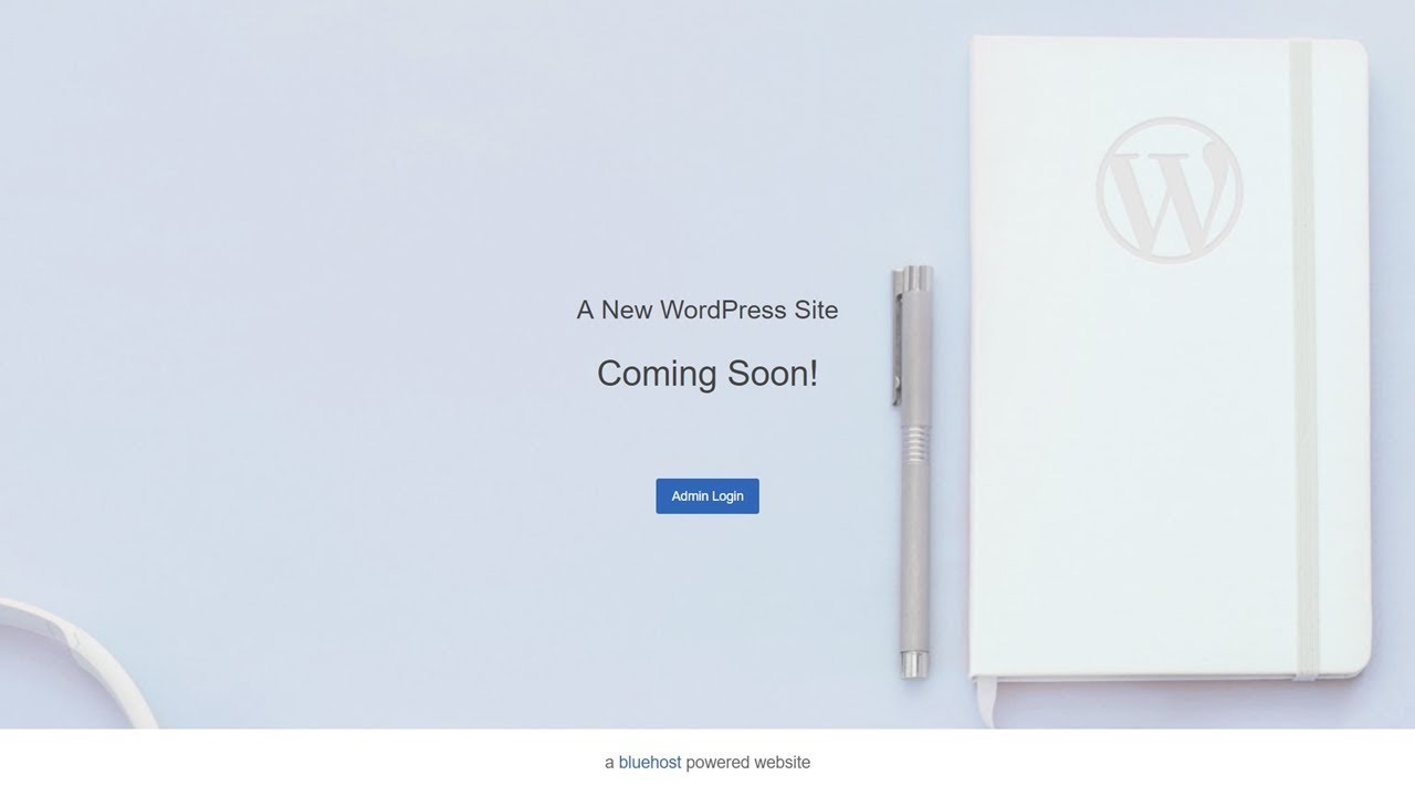 New BlueHost WordPress site coming soon page