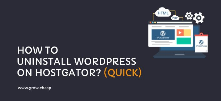 How To Uninstall WordPress from HostGator? (Quick) #HostGator #WordPress