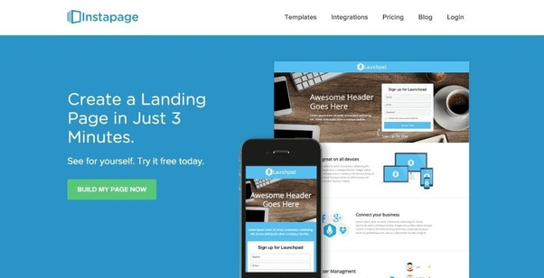 InstaPage Landing Page Creator