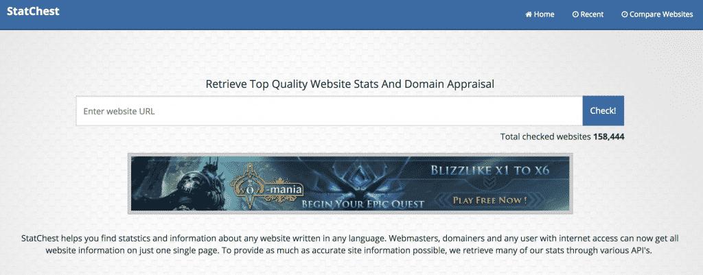 StatChest - Best Domain Appraisal