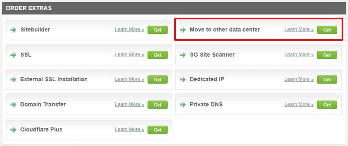 Change SiteGround Server Location