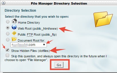 Show SiteGround Htaccess in File Manager