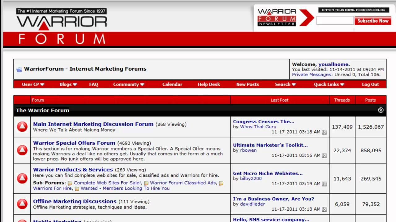 Worrior Forum - Make Money Online Forums