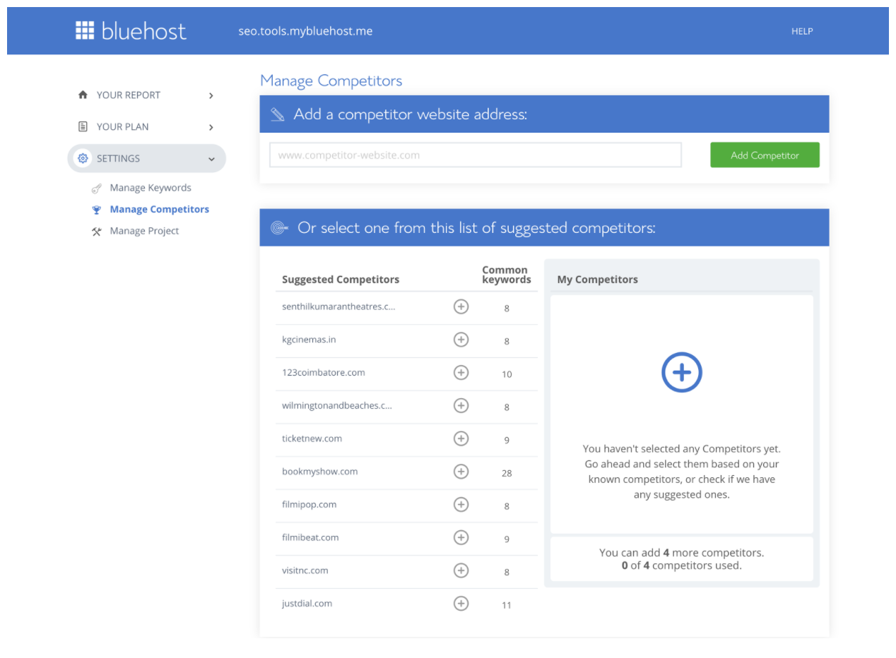BlueHost SEO Tools Start Review
